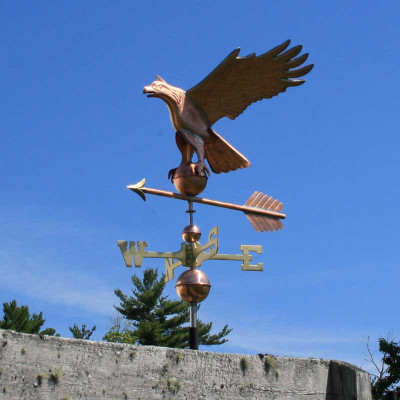 Eagle Weathervane left front view on blue background