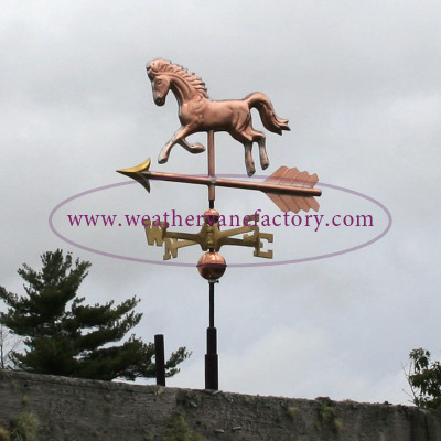 Shed size horse weathervane made by The Weathervane Factory, a Made in Maine Weathervane.