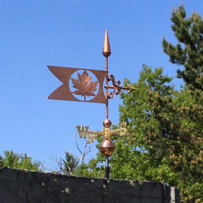 Maple Leaf Banner Weathervane 490