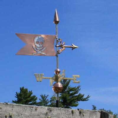 Skull and Swords Banner Weathervane 494
