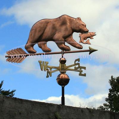 Bear with Fish Weathervane 240