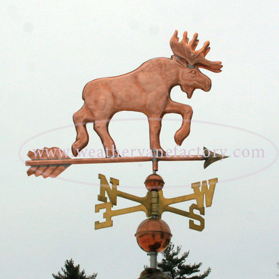 Moose Weathervane right side view with stormy background