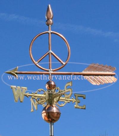 Peace Sign Weathervane - 472