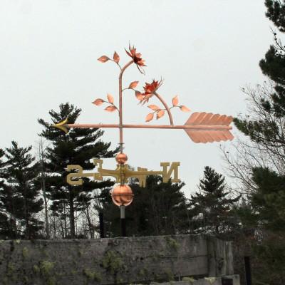 flower weathervane