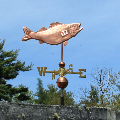 copper walleye weathervane right side view