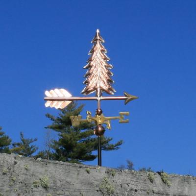 Small Copper Tree Weathervane