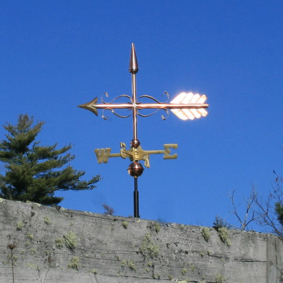 Scrolled Arrow Weathervane
