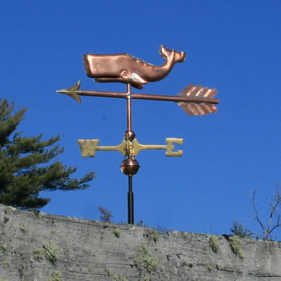 Small Whale Weathervane Side View