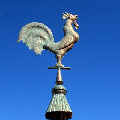 Copper Rooster Finial - Shown in Patina
