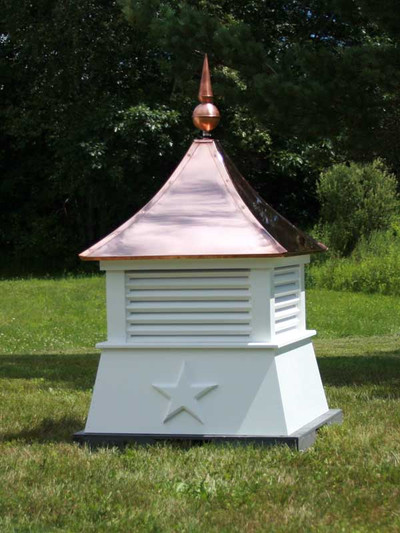 Cold Water Louvered Cupola with copper roof and copper finial