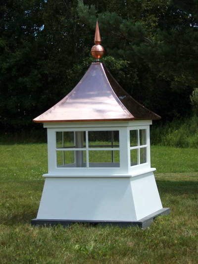 Richland Window Shed Cupola - with copper finial