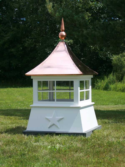 Saginaw Window Shed Cupola - shown with copper finial