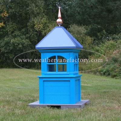 Columbia Window Color Cupola, shown in Blue Evolve Lumber