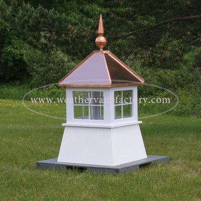 Waterville Window Shed Cupola shown in PVC with Copper Final