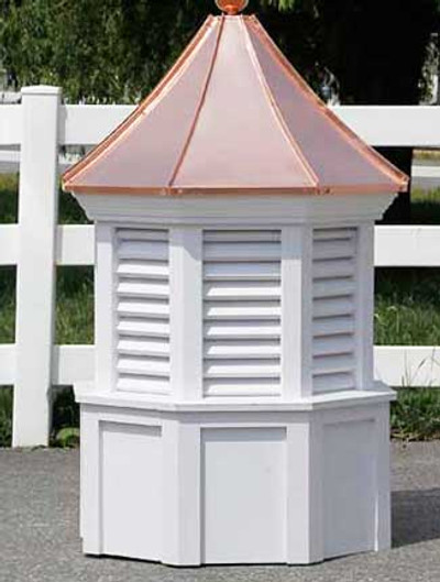 Ludlow Octagon Louvered Cupola with Concave Roof