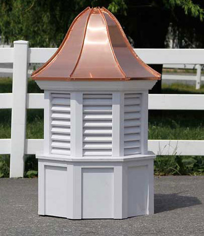 Burlington Octagon Louvered Cupola with Bell Roof