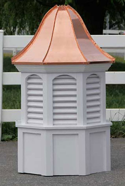 Allagash Arched Octagon Louvered Cupola with Bell Roof