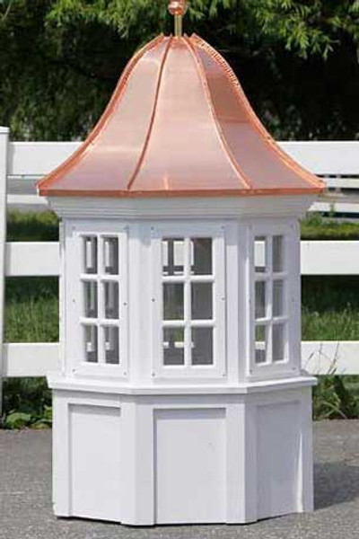 Bancroft Octagon Window Cupola with Bell Roof