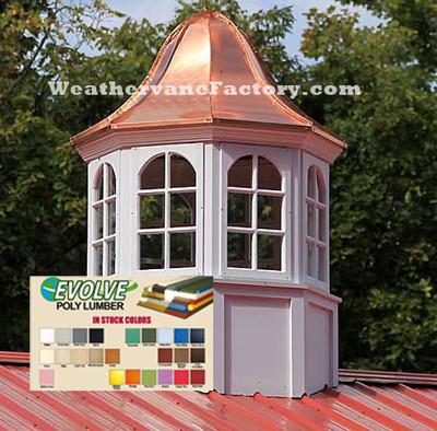 Kensington Octagon Color Window Cupola