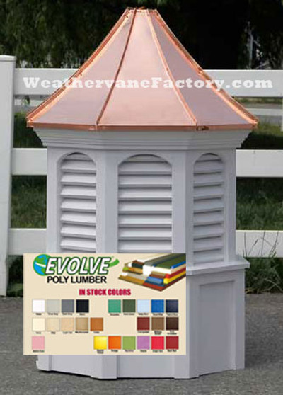 Hudson Octagon Louvered Colored Cupola
