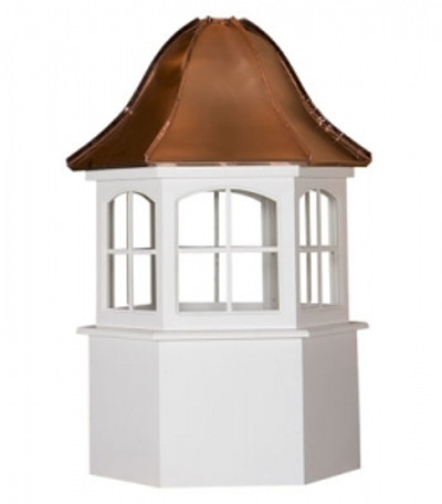 Dayton Hexagon Window Cupola with Bell Roof