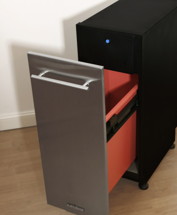 Standalone mode - requires floor mounting (supplied) and optional stainless steel door. A door must be attached before use.