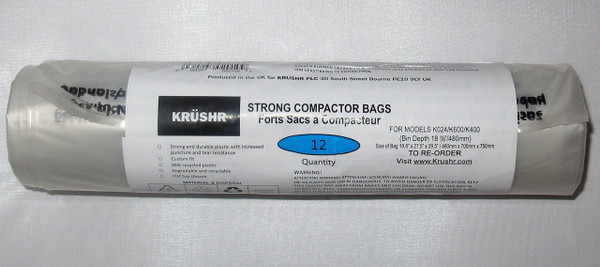Roll of 12 Recyclable Strong Bags