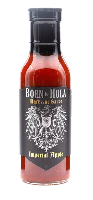 """Born to Hula / Imperial Apple Barbecue Sauce """"Front Label"""""""