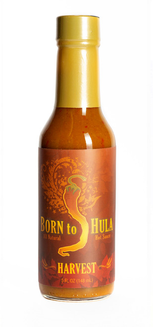 "Born to Hula / Harvest ""Pumpkin Pie"" Hot Sauce  ""Front Label"""