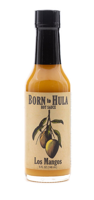 "Born to Hula / Los Mangos Hot Sauce ""Front Label"""