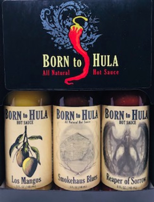 "Born to Hula Hot Sauce ""3 pack"" Gift Box"