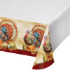 Traditions of Thanksgiving Plastic Border Print Tablecover 54 x 102
