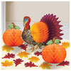 Traditional Turkey Thanksgiving Table Decorating Kit