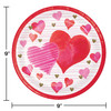 Textured Hearts Valentines Day 8 Ct  9 in Paper Lunch Plates