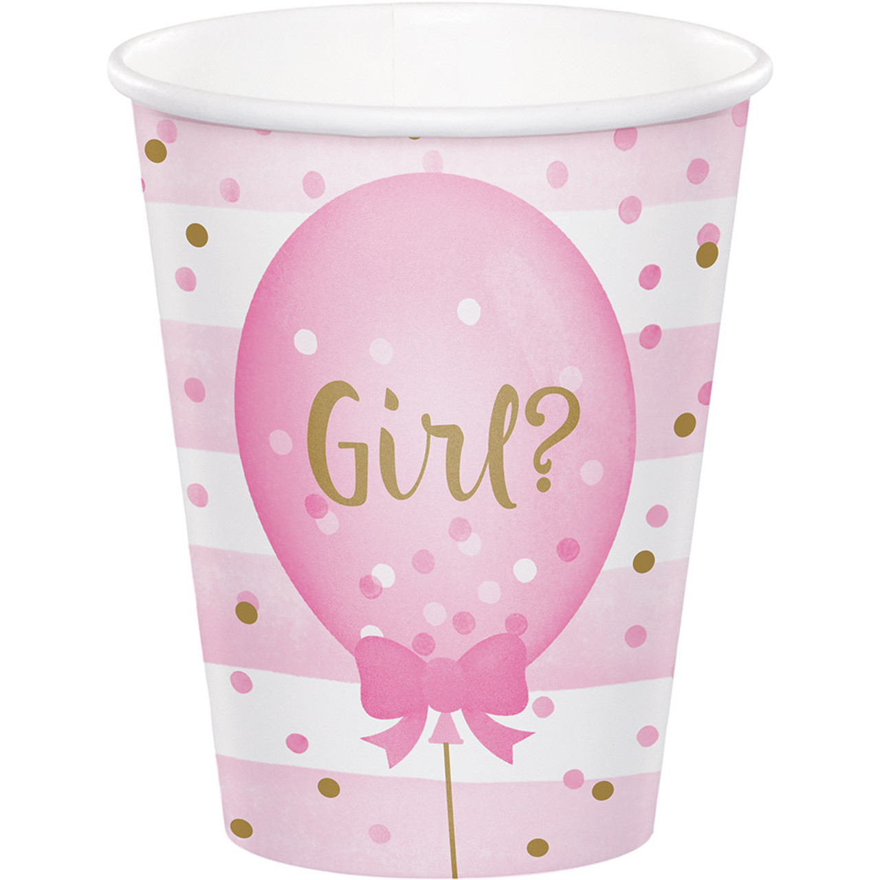 Gender Reveal Party Girl Boy Baby Shower 8 Ct Hot Cold 9 oz Cups