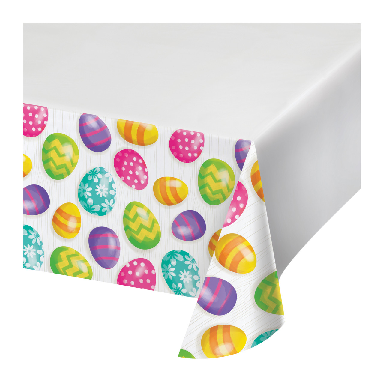 Easter Eggs Tablecover Tablecloth Plastic 54 X 102 Border Print