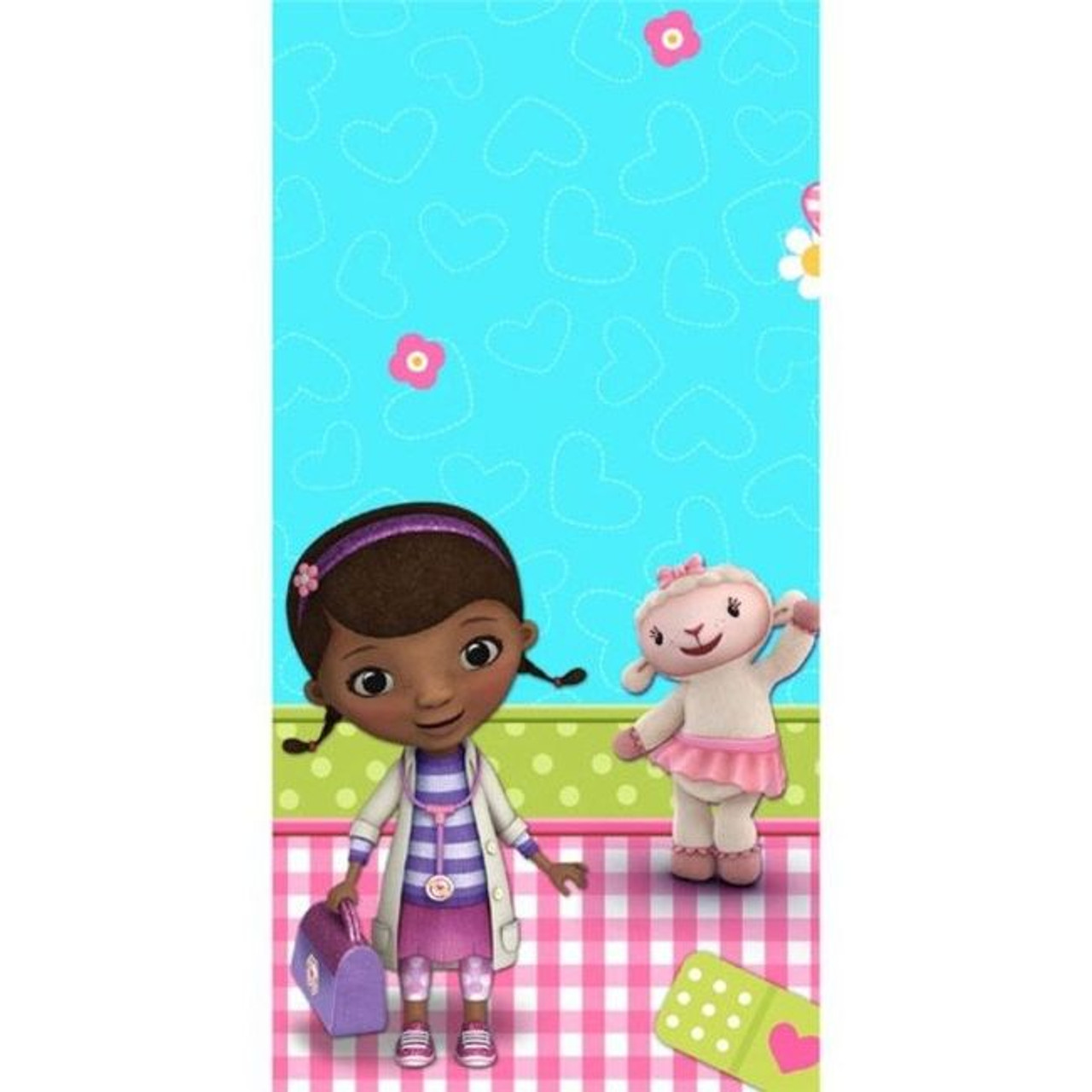 Doc Mcstuffins Lambie Stuffy Hallie Birthday Party Tablecloth Table Cover 54 X96