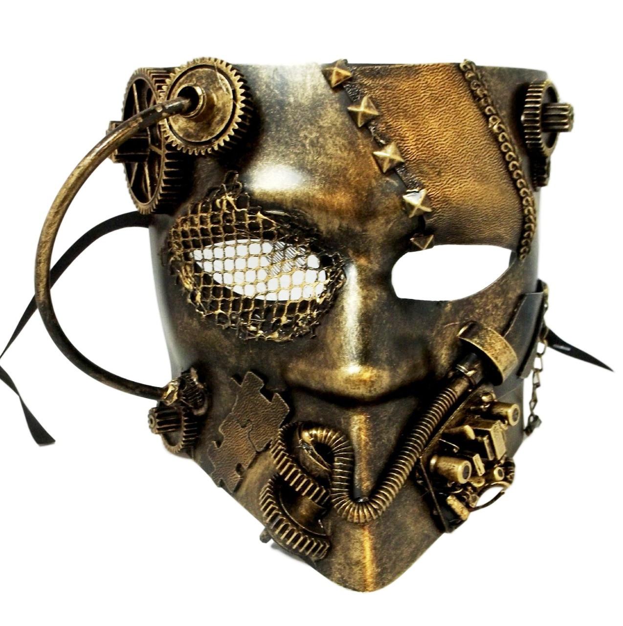 Full Face Bauta Venetian Plastic Costume Masquerade Mask Unisex Vintage
