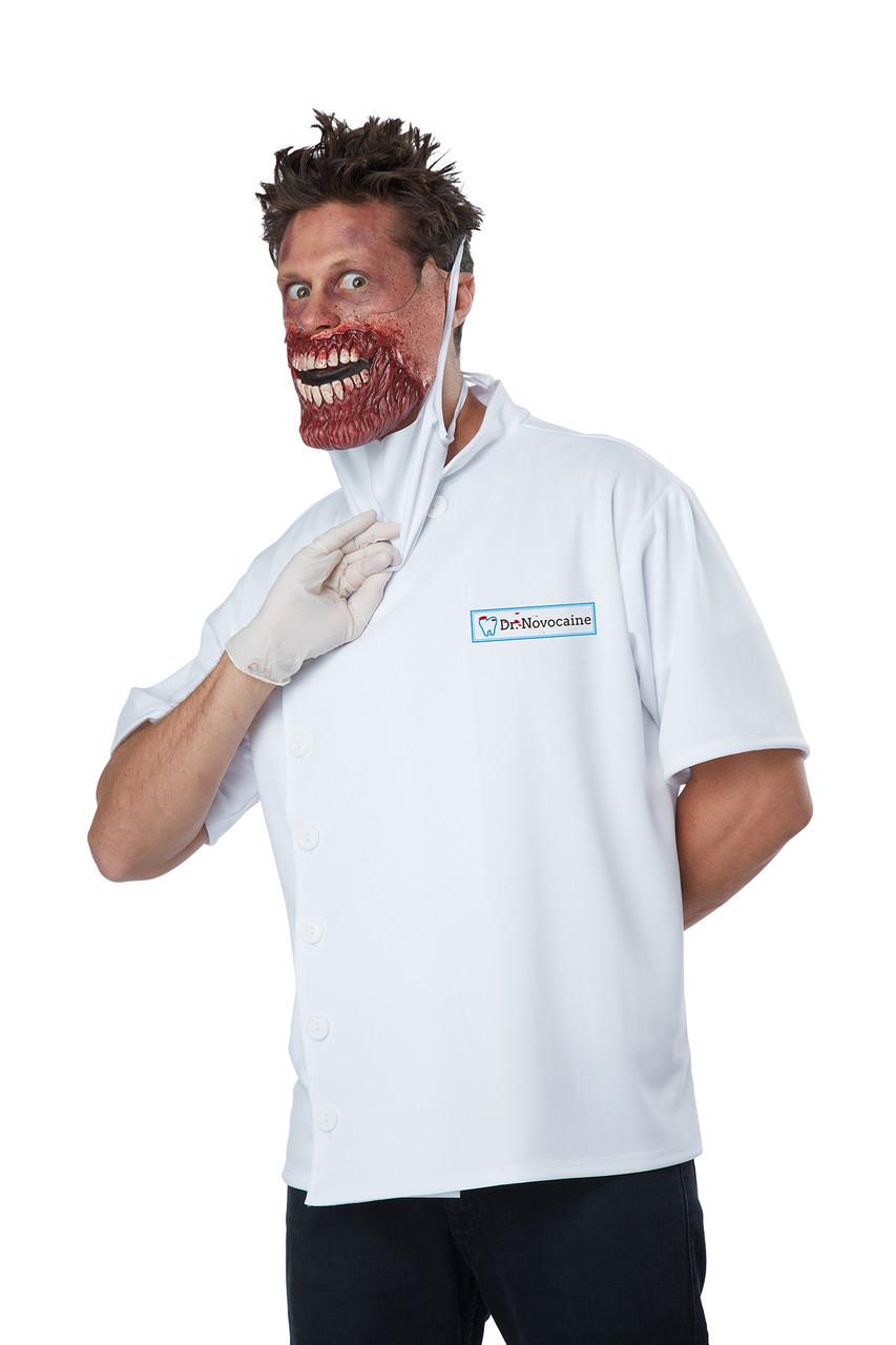 Dr Novocaine Halloween Costume Adult Men L / XL 42 , 46 Scary Doctor