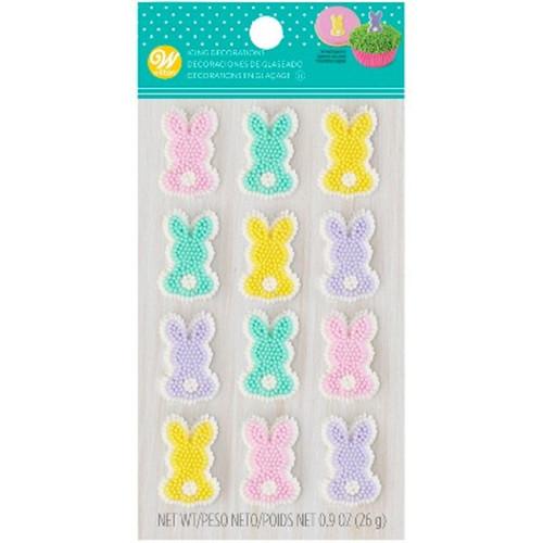 Easter Bunny Pastel Dot Matrix Icing Decorations 12 Ct Wilton