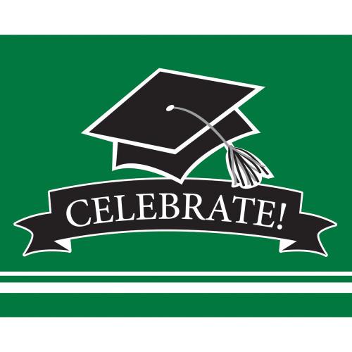 Green Black 25 Ct Value Size Invitations Graduation School Spirit