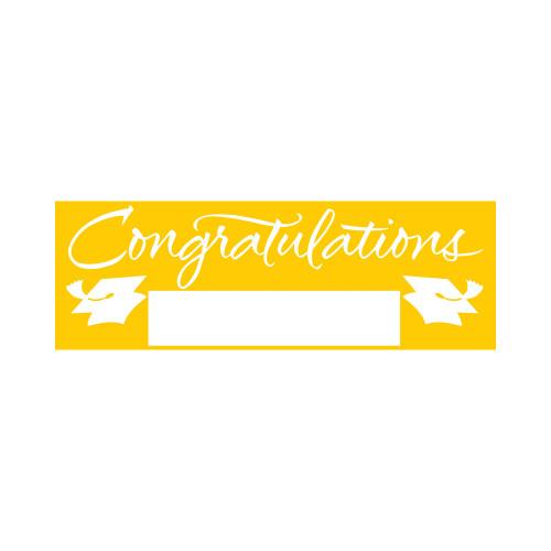 "Yellow Giant Party Banner 5' Graduation School Spirit ""Congratulations"""