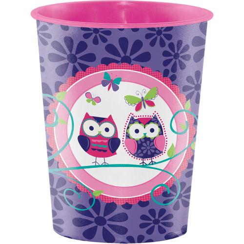 Owl Pal Plastic Favor Cup Birthday Party 16 Oz Tumbler