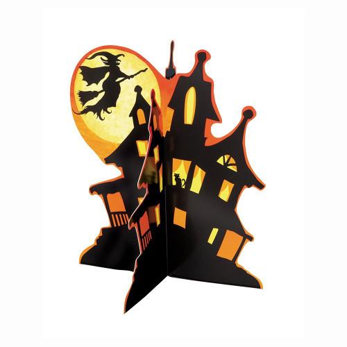 "Spooky Haunted House Halloween 3D 14"" Centerpiece Decoration"