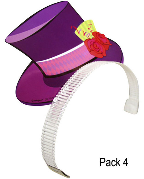 Mad Hatter Tea Party Hat Headband 4 Ct Favors