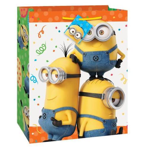 Despicable Me Minion's Birthday Party Minion Gift Bag LRG 13 x10.5