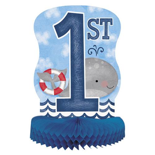 "Nautical 1st Birthday Centerpiece Honeycomb 14"""