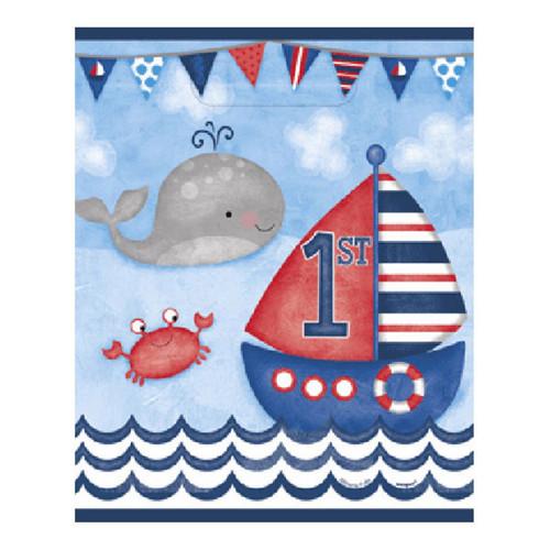 Nautical 1st Birthday 8 Ct Loot Favor Bags