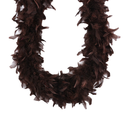 Chocolate Brown 45 gm 72 in 6 Ft Mardi Gras Chandelle Feather Boa