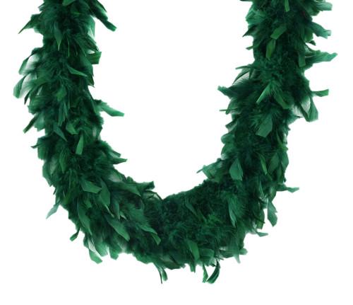 Emerald Green 45 Gm 6 Ft Mardi Gras Costume Chandelle Feather Boa